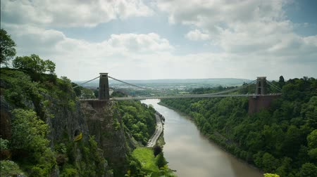İngilizler : the clifton suspension bridge in bristol, uk Stok Video