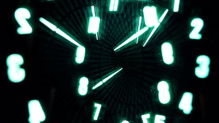 time machine : led clock Stock Footage