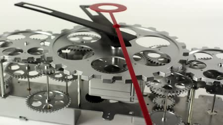 son teslim tarihi : stop motion of a clock face with cogs and dials