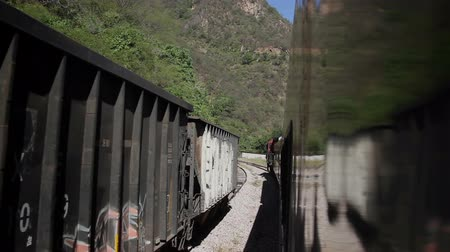 el train : a shot from the el chepe train which passes through the incredible copper canyon (Barrancas del Cobre), northern mexico
