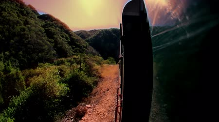 путешествие : a timelapse shot from the el chepe train which passes through the incredible copper canyon (Barrancas del Cobre), northern mexico Стоковые видеозаписи