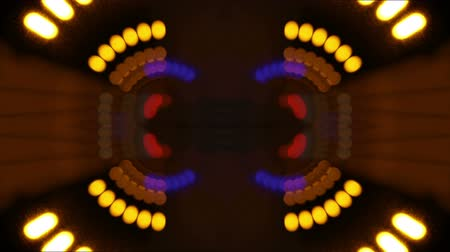electric : abstract pattern made from timelapse shot in a long road tunnel Stock Footage