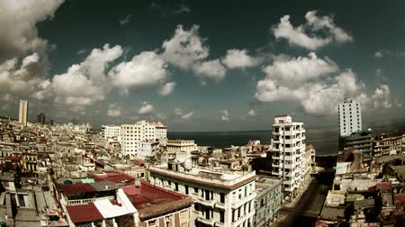 kübalı : timelapse of the havana skyline and coast, cuba