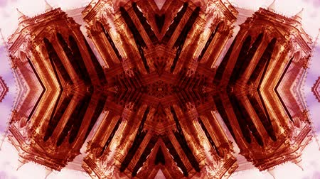 caleidoscópio : Abstract kaleidoscope pattern made from timelapse clip of the notre dame cathedral in paris