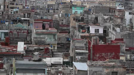 kuba : havana skyline shot from a roof terrace, cuba