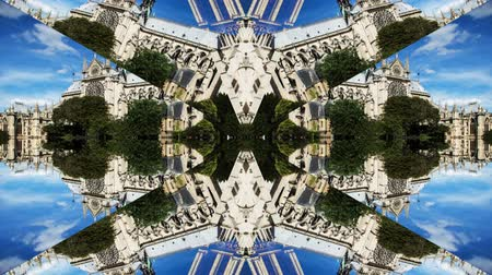 catedral : Abstract kaleidoscope pattern made from timelapse clip of the notre dame cathedral in paris