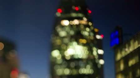 trabalho : the Gherkin building in the financial heart of the city, london at night