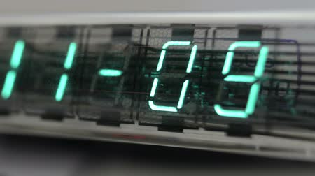 time machine : numerical digital display made from an LED clock counter Stock Footage