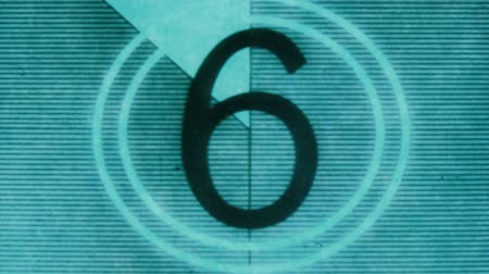 contagem regressiva : universal filmacademy leader countdown, made using 35mm celluloid film strip.