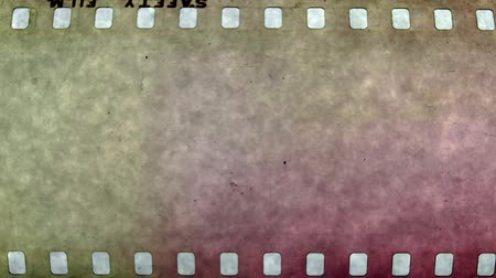 tv screen : abstract grunge textures of universal filmacademy leader countdown, made using 35mm celluloid film strip. Stock Footage