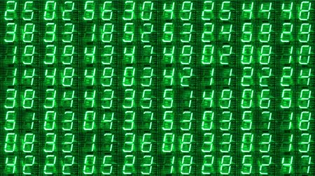 привело : numerical digital display made from an LED clock counter Стоковые видеозаписи