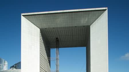 arche : Timelpase of the grande arche in la defence paris