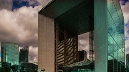 arche : Abstract Timelapse of the grande arche in la defence paris on a beautiful summers day, with the colours pushed and saturated to create an interested look