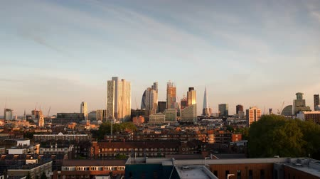 london england : beautiful day to night timelapse of the skyline of london  Stock Footage
