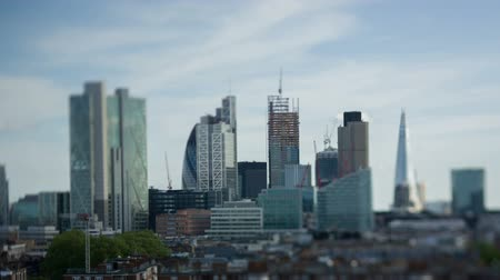 london england : panning video across londons skyline on a summers day Stock Footage