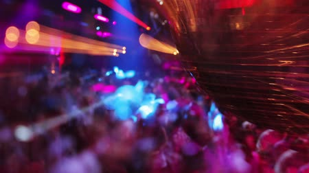 a party : abstract shot of in a nightclub, close-up of a glitterball