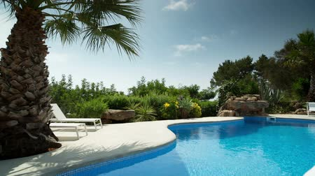 holiday villa : A luxury private swimming pool surrounded by a paradise garden