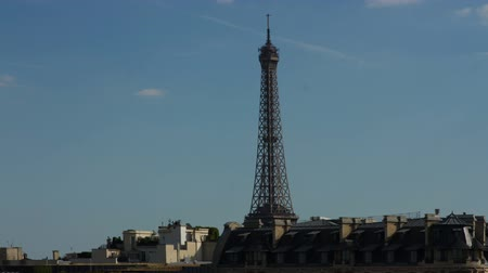 Close-up timelapse of the Eiffel tower in Paris