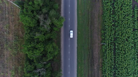 aerialphotography : Aerial - country road and cars. Route, highway and road in the field.
