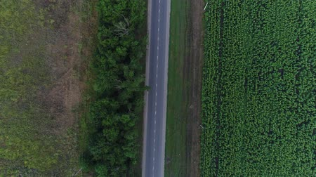 aerialphotography : Aerial view - country road and cars.