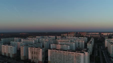 conventional : Aerial view: standard monotonous city buildings, residential quarters. Stock Footage