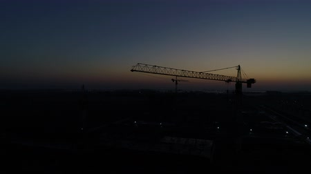 lešení : Construction crane in the morning twilight. Dostupné videozáznamy
