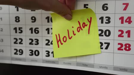 planlamacı : Holiday, office calendar and sticker.