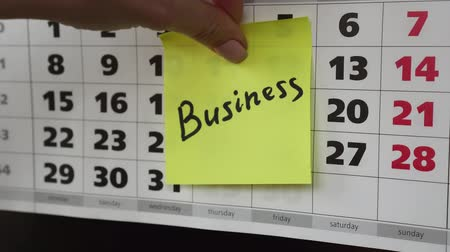 planlamacı : Business, office calendar and stickers.