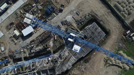 aerialphotography : Construction crane, aerial view. Building crane.