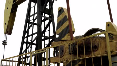broca : Equipment for oil and gas production. Oil Pump-jack. Stock Footage