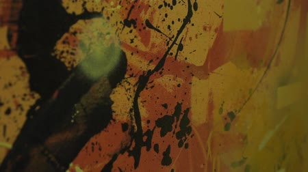 expressionism : Closeup picture for artistic background. Stock Footage