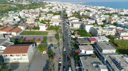 hırvatistan : City street and the road of the seaside European city. Stok Video