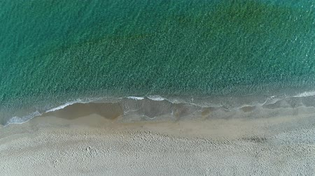 parasol : Beautiful sea coast, sea and sandy beach, aerial view.