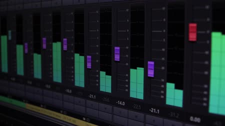 equalizador : Electronic equalizer, bass, sound wave on the display.