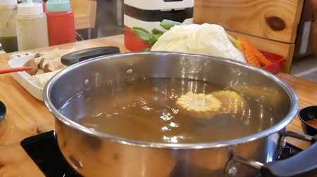 induction cooker : Close up Shabu suki hot pot