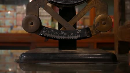 weighing machine : Antique Scales Stock Footage