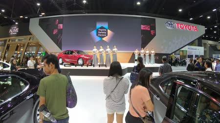classic car : Bangkok, Thailand - December,10  2018 : People visit new car model at Thailand International Motor Expo 2018 MOTOR EXPO 2018 on Dec 10,2018 in Bangkok, Thailand