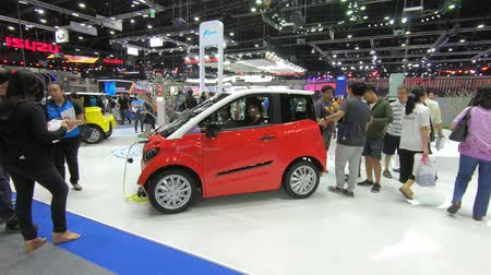 auto show : Bangkok, Thailand - December,10  2018 : People visit new car model at Thailand International Motor Expo 2018 MOTOR EXPO 2018 on Dec 10,2018 in Bangkok, Thailand