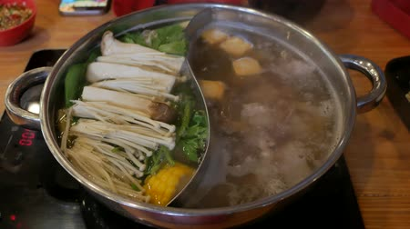 beef soup : Close up Shabu suki hot pot