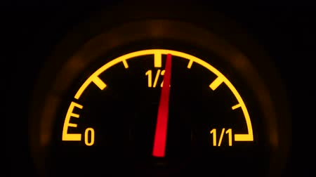 Fuel gauge. Needle moving 動画素材