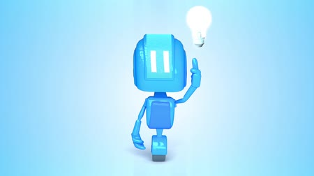 robot : Blue robot with light