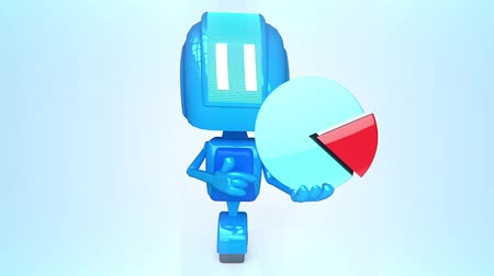 diagramas : Robot de color azul con la carta