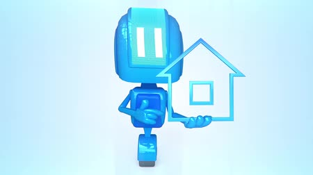 real : Blue robot with house icon