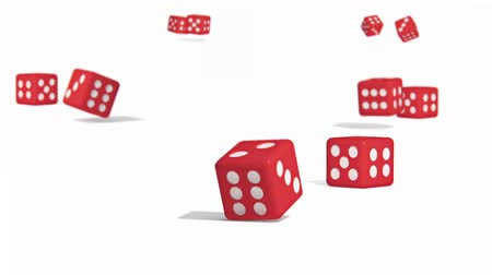 roll : Dice animation on white background for presentation