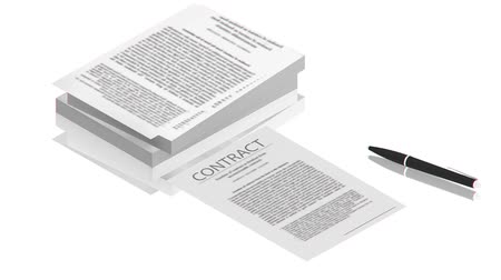 партнерство : Pen on the contract papers Стоковые видеозаписи