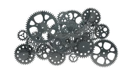 zegar : gears animation for use in presentations, manuals, design, etc.
