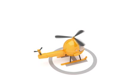 pervane : helicopter landing animation for use in presentations, manuals, design, etc.