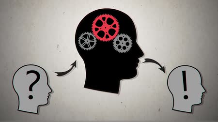 sorular : Gear head. Vector animation2 Stok Video