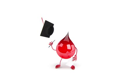 yara : Red Blood Drop Cartoon Character