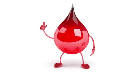 de sangue puro : Red Blood Drop Cartoon Character